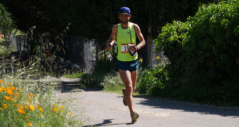 """Ryan Ghelfi at Michigan Bluff - The Canyons 100K<!-- 2015-->"""