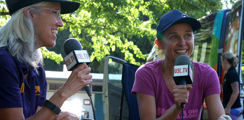 """The Canyons 100K <!--2015--> - Erin Beck Interviewing Magdalena Boulet for USL.tv"""